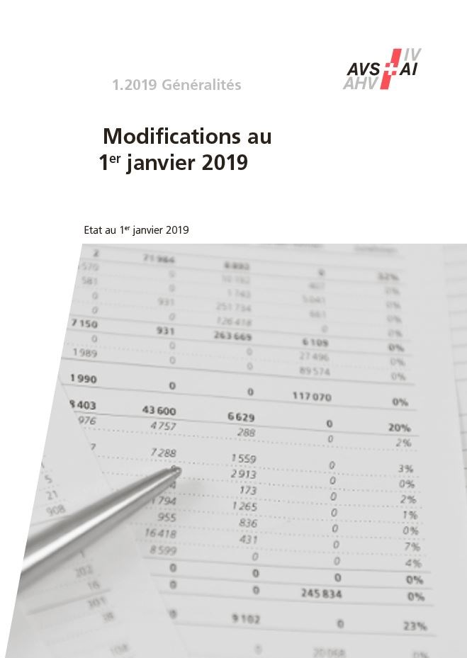 Mémento 1.2019 ‒ Modifications au 1er janvier 2019